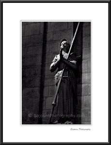 Joan of Arc in Notre-Dame Cathedral, Paris