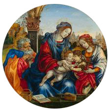 'Holy Family with the Infant, Saint John and Saint Margaret' by Lippi circa 1495